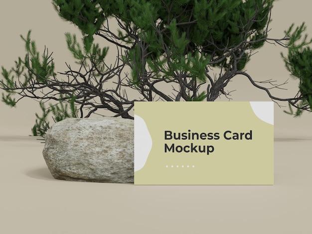 Modello di biglietto da visita natura con albero