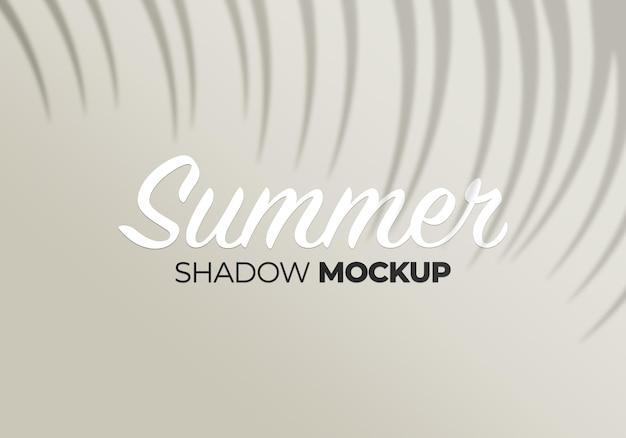 Mockup di ombra di sfondo estate natura