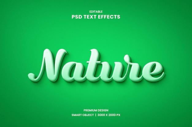 Effetto stile testo natura