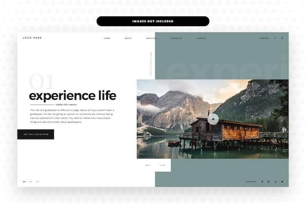 Modello di progettazione del sito web di natura