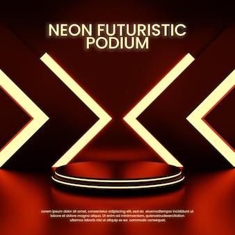 Espositore del prodotto del podio futuristico neon