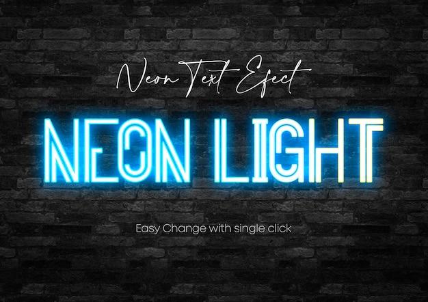 Modello psd con luce al neon