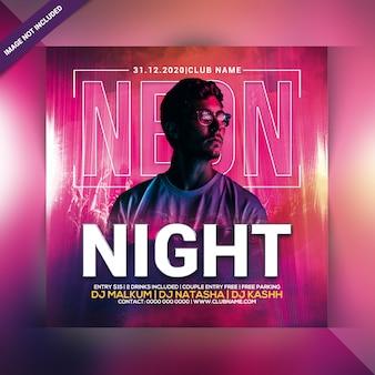 Volantino festa neon notte