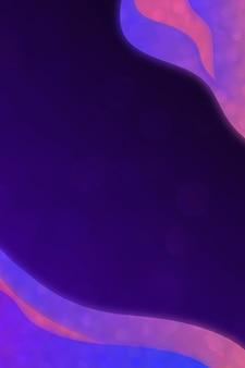 Modello di cornice curva viola neon
