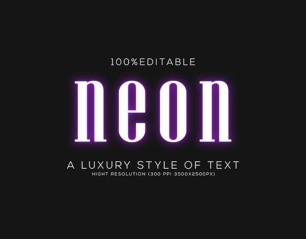 Stile di testo al neon
