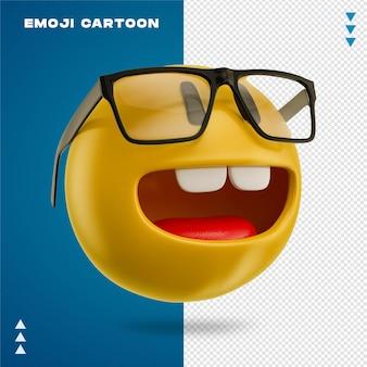 Emoji faccia da nerd