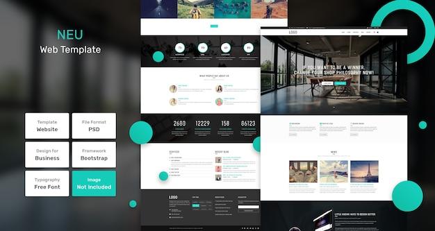 Nuovo modello web per affari e agenzie