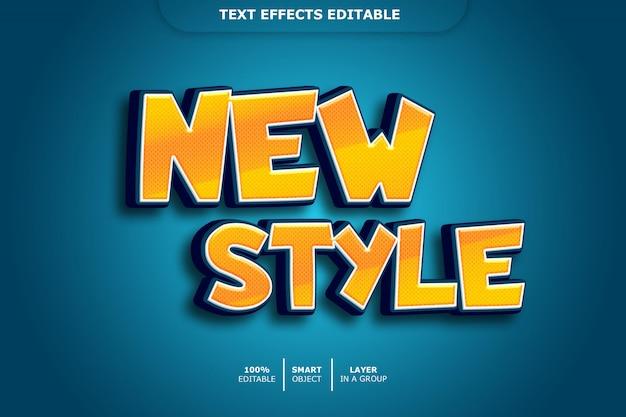 Nuovo effetto di testo in stile 3d modificabile