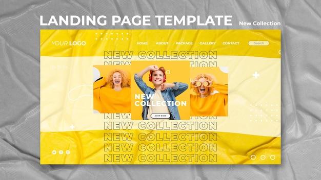 Modello di pagina di destinazione del nuovo concetto di raccolta