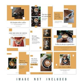 Nuova collezione moda saldi instagram feed puzzle