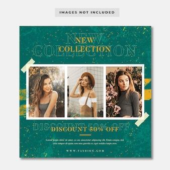 Modello di instagram social media di vendita di nuova collezione moda