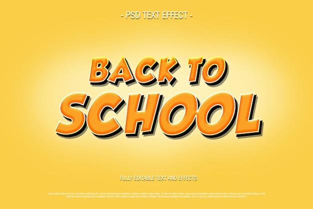 Bel ritorno a scuola effetto testo modificabile