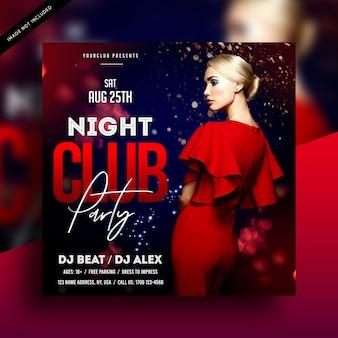 Modello di volantino festa night club