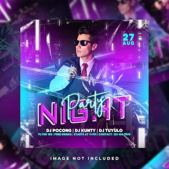 Night party flyer party