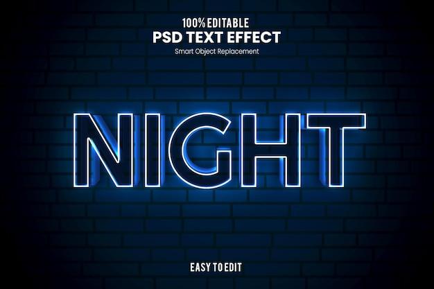 Effetto nighttext