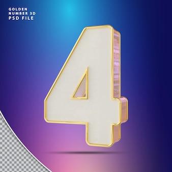 Numero 4 rendering 3d di lusso