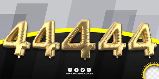 Numerazione in palloncini di alluminio 4