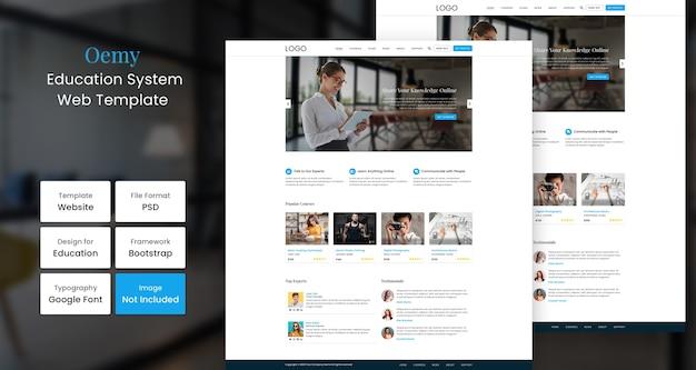 Modello web di istruzione oemy