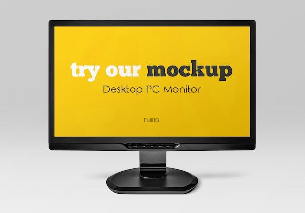 Mockup dello schermo del desktop di office