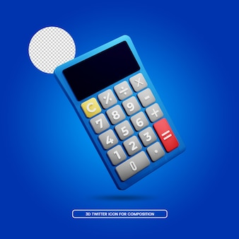 Calcolatrice apparecchiature per ufficio rendering 3d