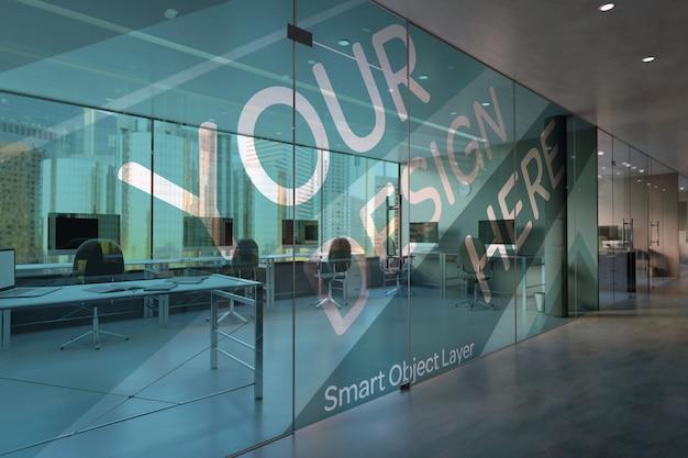 Office glass mock up
