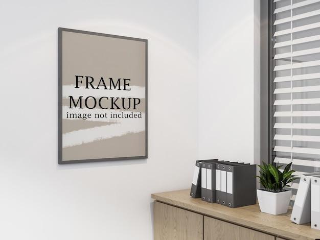 Mockup di cornice per foto di ufficio