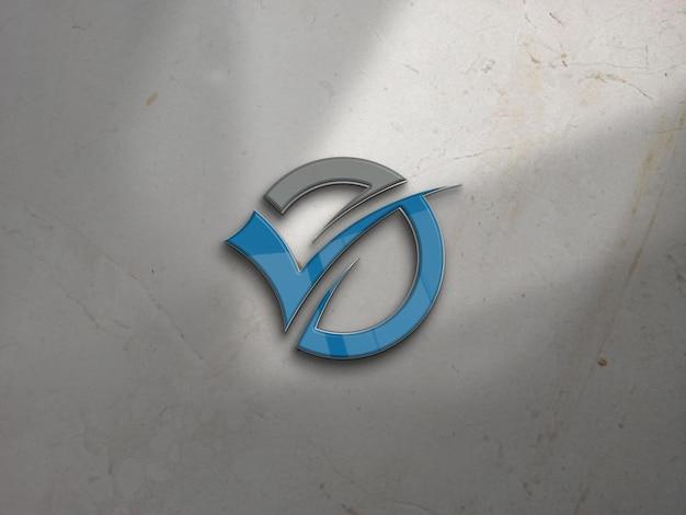 Mockup del logo della parete dell'ufficio