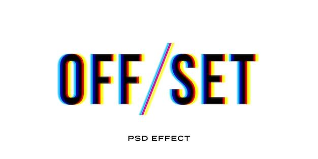 Modello di effetto di testo glitch offset