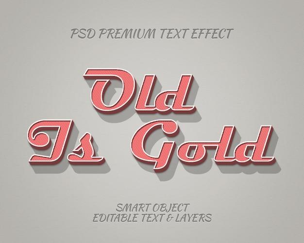 Old is gold design classico effetto testo