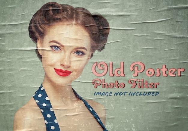 Vecchio poster effetto foto mockup