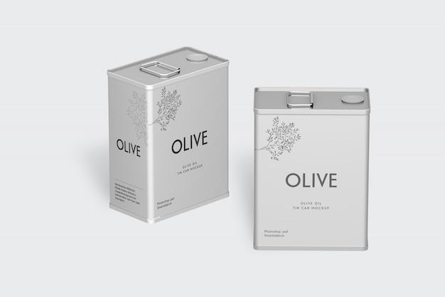 Mockup di latta verde oliva