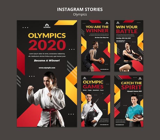 Storie sui social media sui giochi olimpici