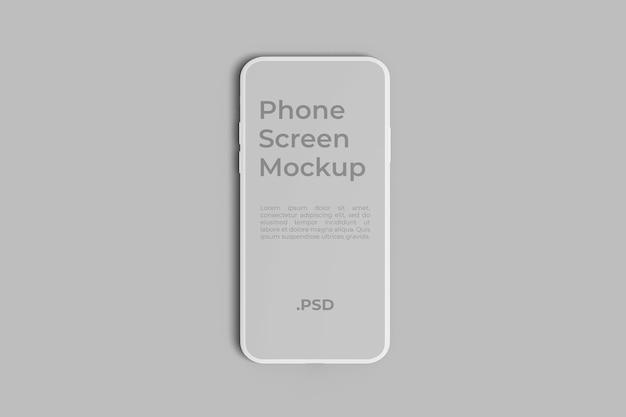 Un mockup dello schermo del telefono