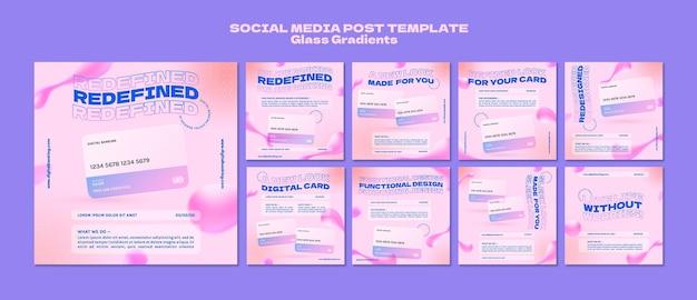 Post sui social media per l'online banking