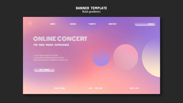 Modello di banner concerto online