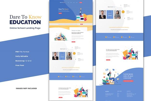 Formazione online per landing page della scuola primaria e secondaria