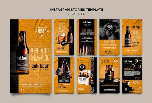 Modello di storie di instagram di birra ook