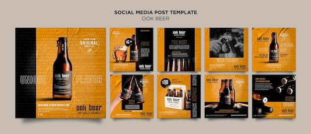 Ook beer modello di post sui social media