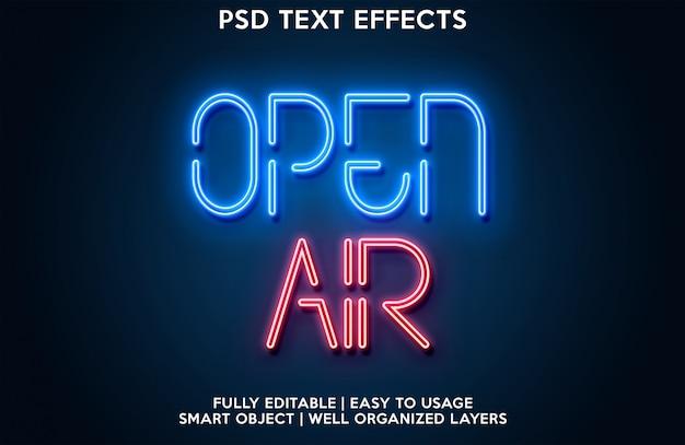 Effetto testo all'aria aperta