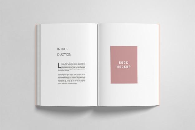 Mockup del libro aperto