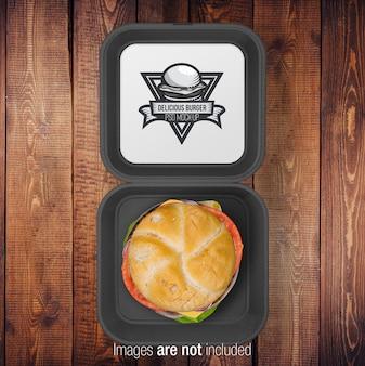 Scatola nera aperta burger