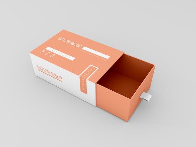 Mockup di scatola di consegna aperta