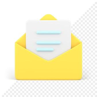 Icona 3d busta aperta