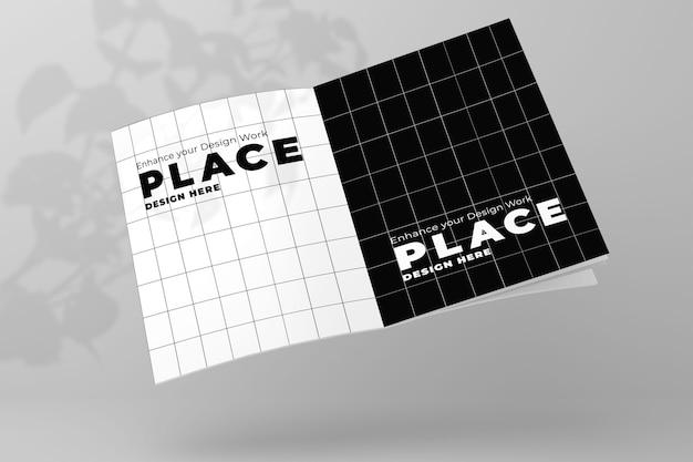 Open magazine mockup 3d design realistico