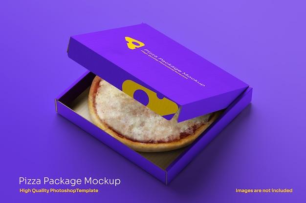 Scatola per pizza aperta mocku