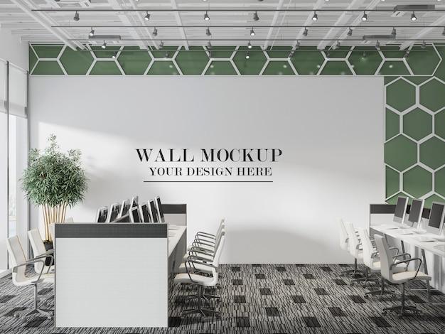 Modello di parete per ufficio open space
