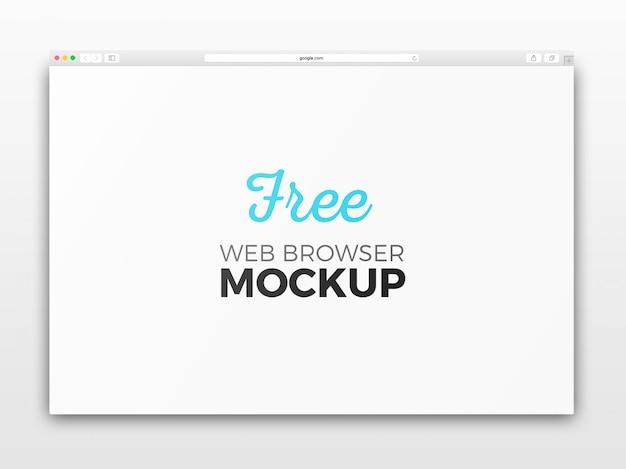 Apri il mockup del browser web