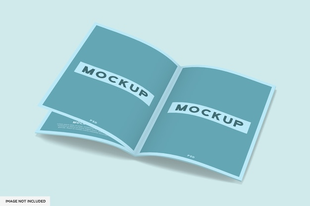 Mockup di rivista aperto isolato