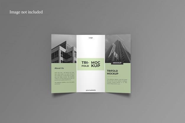 Brochure a tre ante aperta mockup