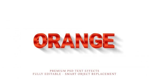 Effetto arancione di stile del testo 3d
